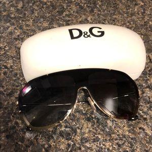 Dolce and Gabbana muni studded shield glasses